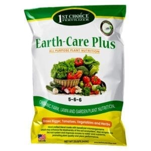1ST CHOICE FERTILIZER Earth-Care Plus 5-6-6 25 lbs. 2,500 sq. ft. Slow Release Organic All Purpose Plant Nutrition