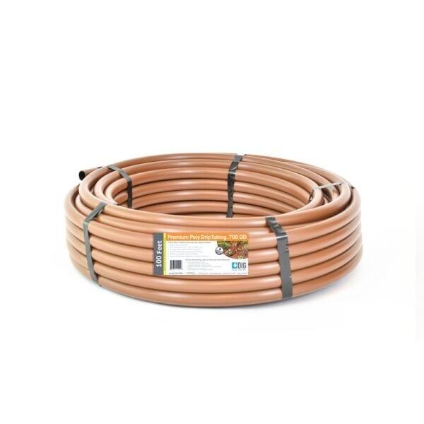 DIG 1/2 in. (0.600 in. I.D. x 0.700 in. O.D.) x 100 ft. Brown Drip Irrigation Poly Tubing, Browns / Tans