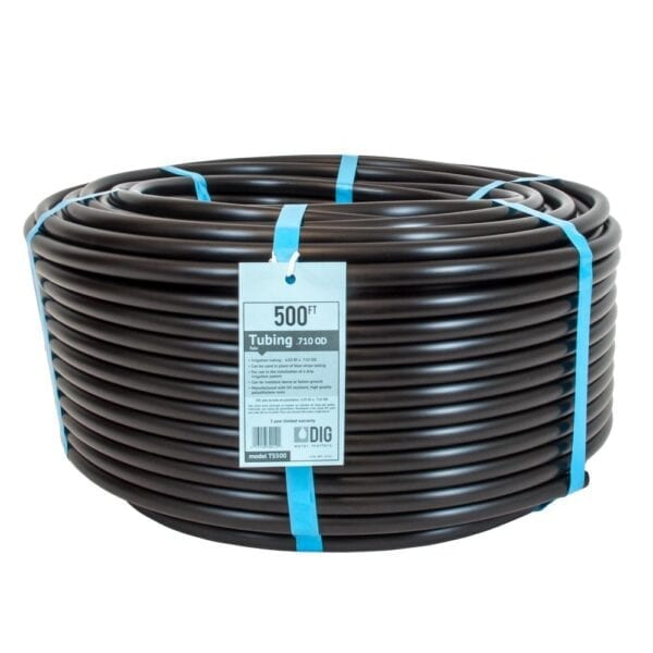 DIG 1/2 in. (0.710 O.D.) x 500 ft. Poly Drip Irrigation Tubing, Blacks