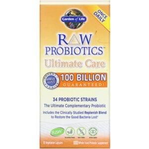 Garden of Life, RAW Probiotics, Ultimate Care, 30 Vegetarian Capsules
