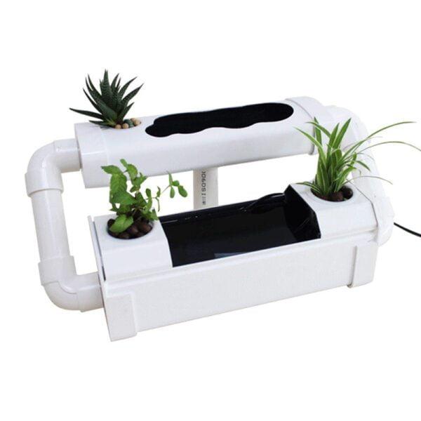 Creative Soilless Hydroponic Growing & Fish Tank Aquaponic System Kit Water Garden Microfarm Aquarium