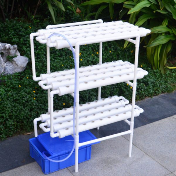 Hydroponic Grow System Kit 108 Plant Sites 12 Pipes 3 Layers Garden Plant Vegetable Planting Water Culture Indoor Farmin
