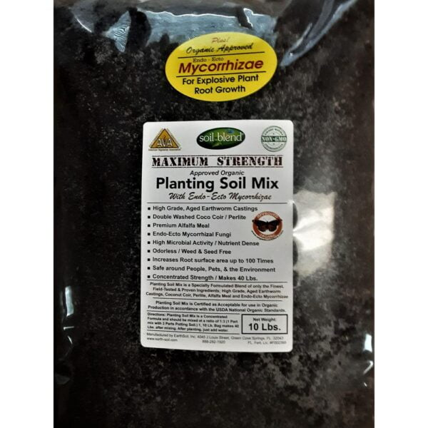 Soil Blend Premium Planting Soil Mix Special Blend with Perlite, Worm Castings, Coconut Coir and Endo and Ecto Mycorrhizae